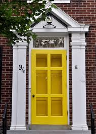industrial front door yellow front door makeover u create valspar paint by idolza