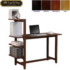 Small Oak Writing Desk by 4 Tier Bookshelf Small Writing Desk With Shelves Wd 4069