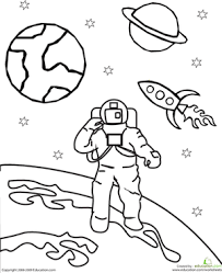 astronaut coloring page pinterest the worlds catalog of ideas space coloring page space
