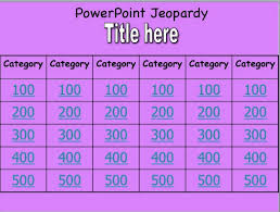 free printable jeopardy template free printable jeopardy game