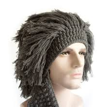 caveman halloween costume amazon com misula handmade knit beard wig hats hobo mad scientist