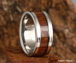 jewelry wooden rings images 8mm natural hawaiian koa wood inlaid titanium flat wedding ring jpg
