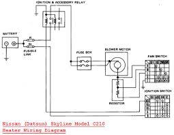 datsun skyline model c210 heater wiring diagram