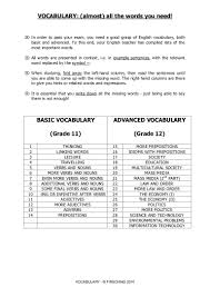 vocab advanced 2010