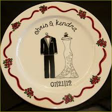 ceramic wedding plates custom ceramic wedding plate painted themadpotter houston
