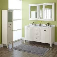 bathroom minimalist white ikea double vanity with round sink for