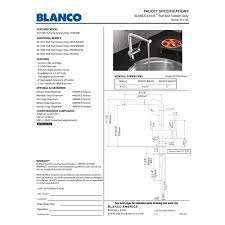 blanco 441196 linus polished chrome pullout spray kitchen faucets