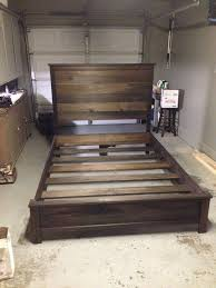 Wooden Platform Bed Frame Plans by Best 25 Diy Bed Frame Ideas On Pinterest Pallet Platform Bed