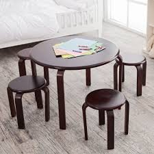 small design kids folding table and chair set making a wooden