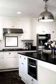 backsplash for black and white kitchen black and white kitchens ideas photos inspirations