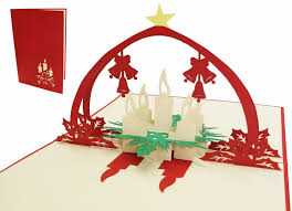pop up christmas card advent wreath lin pop up 3d greeting cards