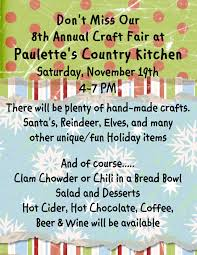 Country Kitchen Com by 8th Annual Craft Fair Paulettes Country Kitchen