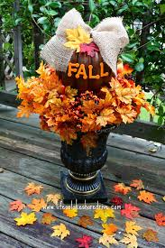 halloween decorations dollar store fall decor pumpkin topiary tutorial life on lakeshore drive