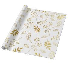 botanical wrapping paper leaves wrapping paper zazzle
