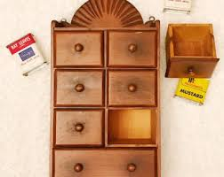 Wall Shelves With Drawers Spice Cabinet Etsy