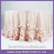 pink rosette table runner tc146b blush fabric wedding table skirting designs rosette table