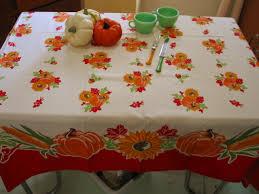 pumpkin harvest thanksgiving tablecloth vintage linens