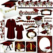 cap and gown decorations maroon clipart graduation cap pencil and in color maroon clipart