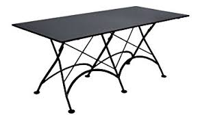 metal folding table outdoor amazon com mobel designhaus french café bistro folding table jet