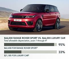 land rover sport 2018 land rover for business with an accelerated tax depreciation deduction