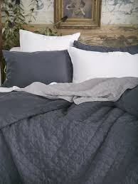 Midnight Colors For Your Bedroom Purple Charcoal Linen Bedding Ida Duvet Cover Matteo