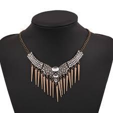 silver fashion statement necklace images Boho tribal style statement necklace the fashion lounge jpeg