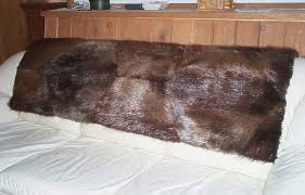 glacier wear natural beaver fur couch throw for sale