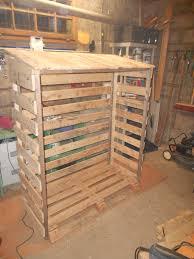 fabriquer cache poubelle abri bois en palette pour exterieur instructions de bosch au