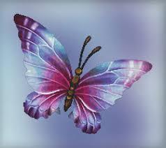 cross stitch pattern flutter no 5 butterfly design instant