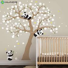 cherry blossom tree wall stickers sticker creations aliexpress com cute panda and cherry blossom tree wall decal