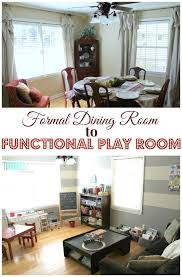 living room playroom formal dining room to functional play room the turquoise home