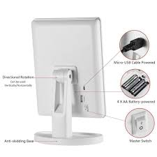 bright light magnifying mirror colors of sin led touch screen makeup mirror lighted makeup mirror