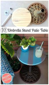 Diy Patio Umbrella Stand Patio Umbrella Stand Side Table 2ftmt Me