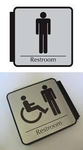 Mens And Womens Bathroom Signs Corridor Restroom Signs Hallway Flag Bathroom Signs Mens