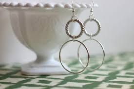 easy earrings pitterandglink simple diy silver earrings
