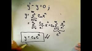 power series solutions of differential equations youtube