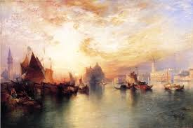 Best Paintings by Thomas Moran Venice From Near San Giorgio Painting Best