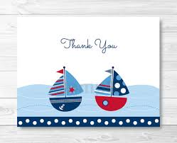 nautical thank you cards sailboat thank you card sailboat ba shower nautical nautical