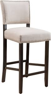 bar stools with nailhead trim nailhead counter stool leather grey