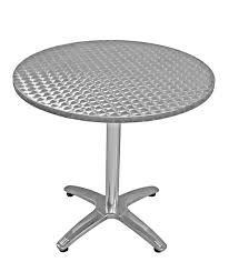 stainless steel table and chairs 36 round table height commercial outdoor aluminum table base and