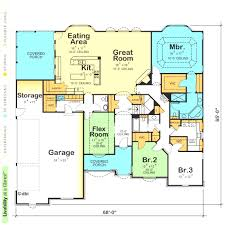 open floor plans one single open floor plans plan 3 bedrooms 2 bright one house