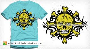 vector tribal tattoo skull t shirt design vector t shirt designs