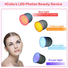 blue and red light therapy for acne 4 color photon led skin rejuvenation red blue yellow light skin care
