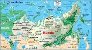 former soviet union map physical landforms russia and the former soviet union