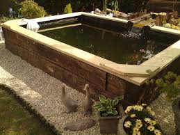 Railway Sleepers Garden Ideas Railway Sleeper Pond Ideas Search Omg Amazing House