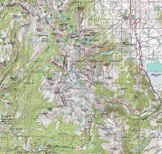Map Of Yosemite Map Virginia Canyon To Tuolumne Meadows Backpacking Yosemite