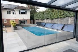 verre pour veranda vitrage panoramique sans profil rideau de verre coulissant ou