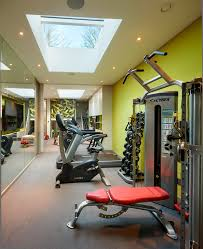 home gym design with ceiling fan home gym industrial and