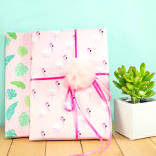 where to buy gift wrapping paper let s get fancy printable flamingo and palms gift wrap