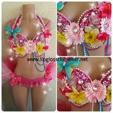 mint mermaid mermaid rave custom mermaid mint pink flower garden edm rave wear theme wear dance